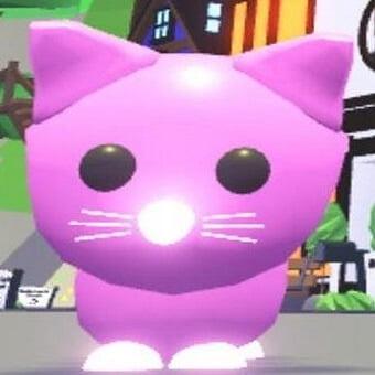 El gato rosa, mascota de adopt me