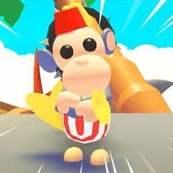 El mono de juguete