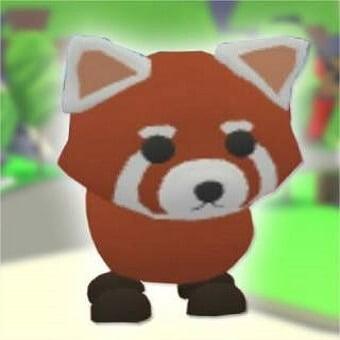 El oso panda rojo, mascota de adopt me
