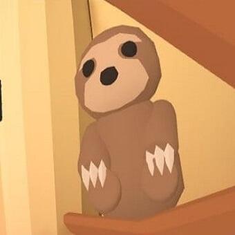 El perezoso, mascota de adopt me