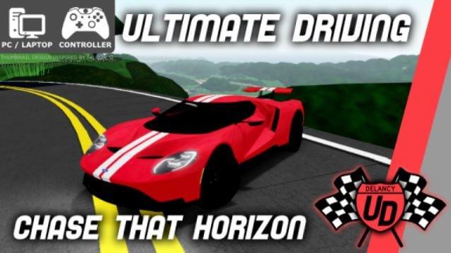 Juego Ultimate Driving: Delance Gorge para Roblox.