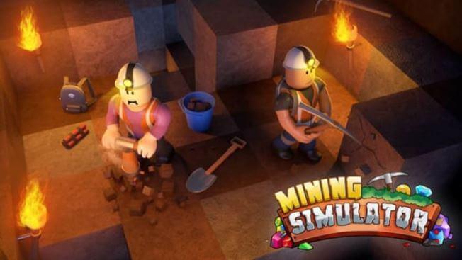 Mapa del juego Mining Simulator para Roblox.