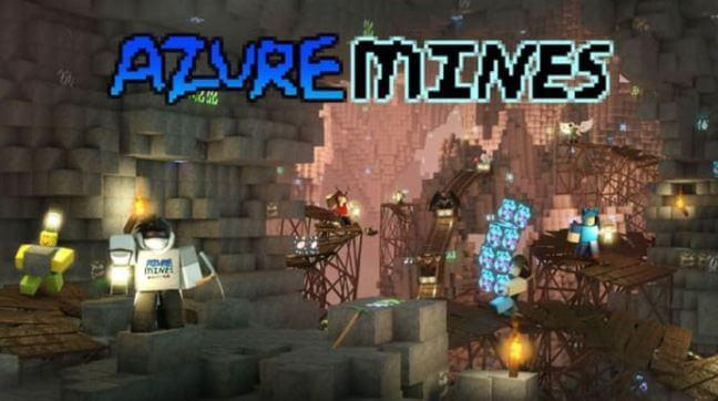 Mapar del juego Azure Mines para Roblox.