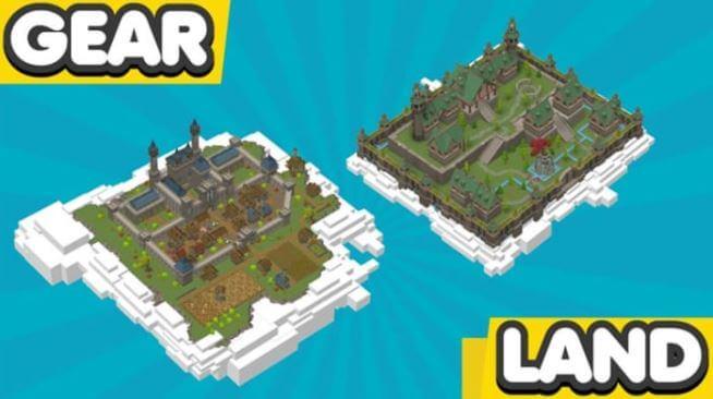 Mapas del juego Gear Land para Roblox.