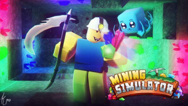 Mining Simulator para Roblox.
