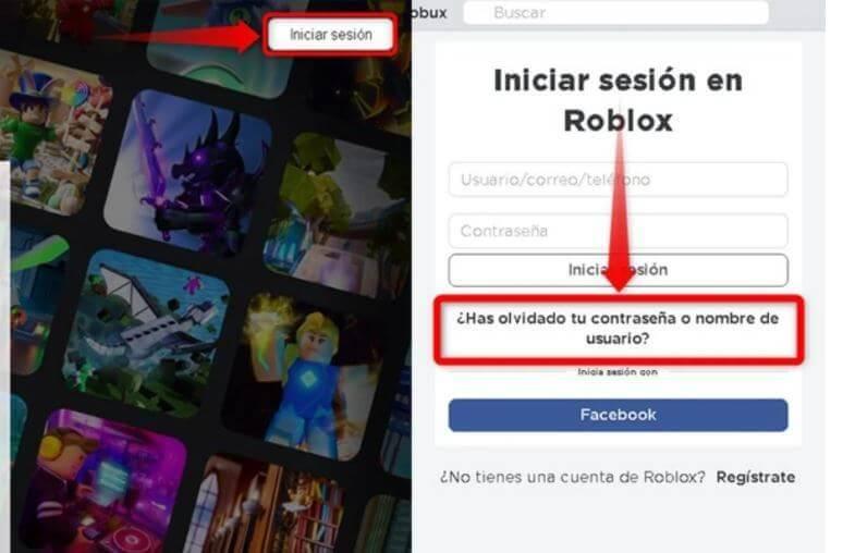 recuperar cuenta roblox