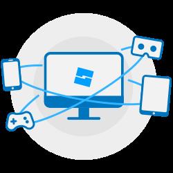 Roblox te permite crear cualquier cosa y publicarla en su plataforma multijuego.