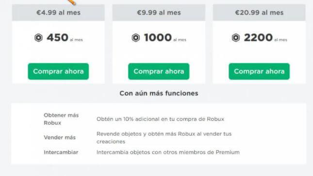 Trade Roblox. Membresía Premium.